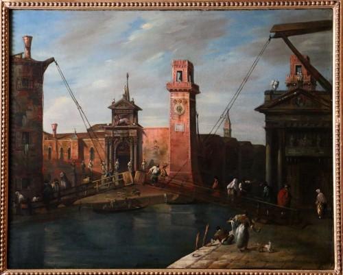 Venice-l'Arsenal - Italian School of the second half of the 18th century