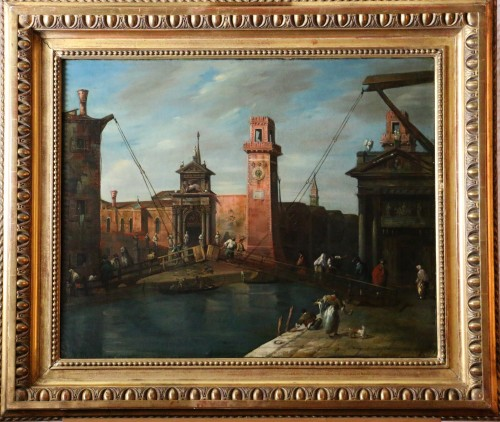 Venice-l'Arsenal - Italian School of the second half of the 18th century - Paintings & Drawings Style