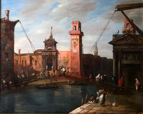 Venice-l'Arsenal - Italian School of the second half of the 18th century -