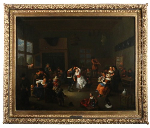 Party scene, Dutch School of the 17th century - Attributed to Jan Miense MOLENAER (1609-1668)