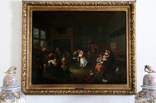 Party scene, Dutch School of the 17th century - Attributed to Jan Miense MOLENAER (1609-1668) - Paintings & Drawings Style Louis XIII