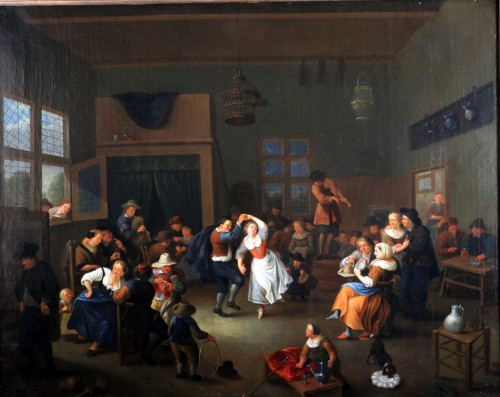 Paintings & Drawings  - Party scene, Dutch School of the 17th century - Attributed to Jan Miense MOLENAER (1609-1668)