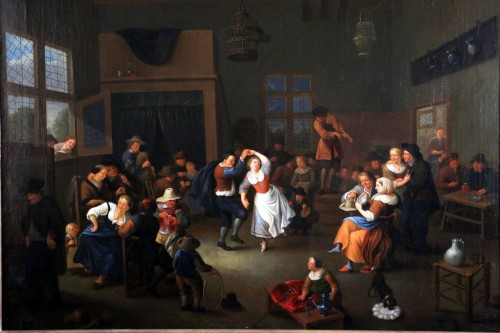 Party scene, Dutch School of the 17th century - Attributed to Jan Miense MOLENAER (1609-1668) -