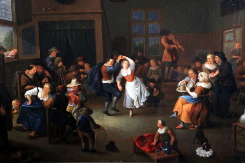 17th century - Party scene, Dutch School of the 17th century - Attributed to Jan Miense MOLENAER (1609-1668)