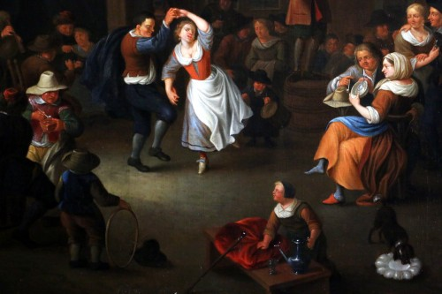 Party scene, Dutch School of the 17th century - Attributed to Jan Miense MOLENAER (1609-1668) - Louis XIII
