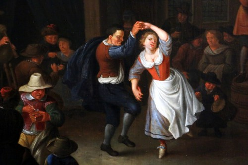 Louis XIII - Party scene, Dutch School of the 17th century - Attributed to Jan Miense MOLENAER (1609-1668)