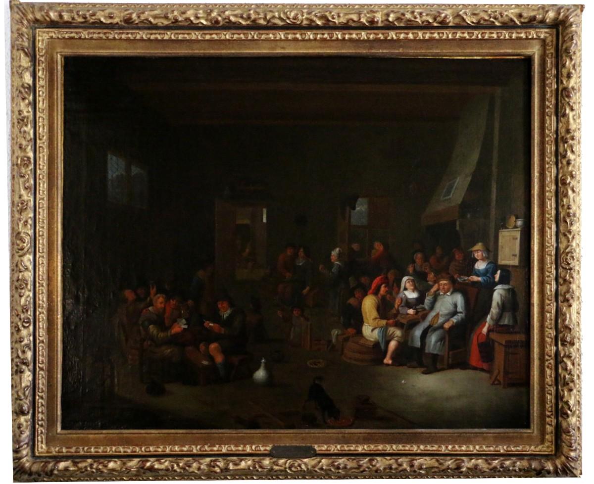 sc ne d int rieur cole hollandaise du xviie si cle attribu e jan miense molenaer 1609 1668. Black Bedroom Furniture Sets. Home Design Ideas