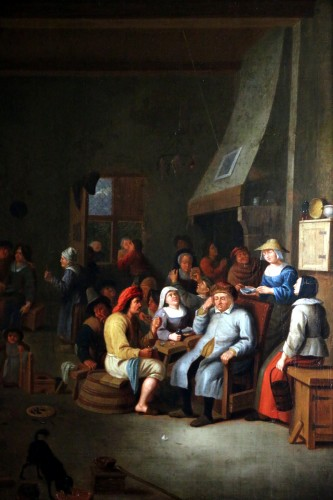 Antiquités - Interior scene, Dutch School of the 17th century attributed to Jan Miense MOLENAER 1609-68