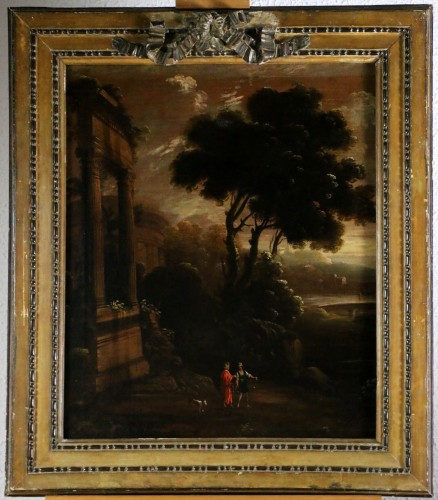 Italian school of the 18th century - Capriccio in a night landscape
