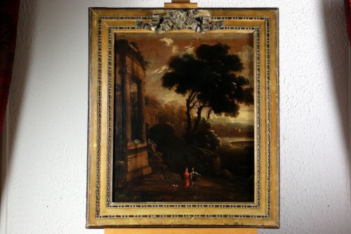 Italian school of the 18th century - Capriccio in a night landscape - Paintings & Drawings Style Louis XVI
