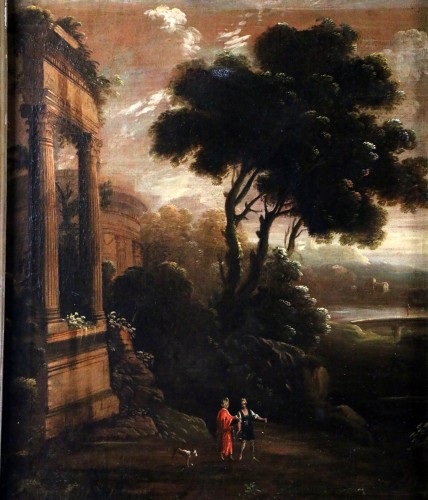 Paintings & Drawings  - Italian school of the 18th century - Capriccio in a night landscape