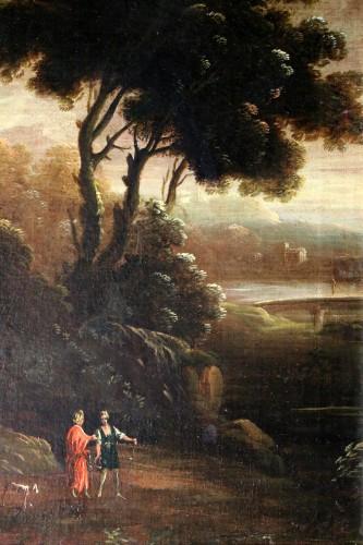 Italian school of the 18th century - Capriccio in a night landscape -