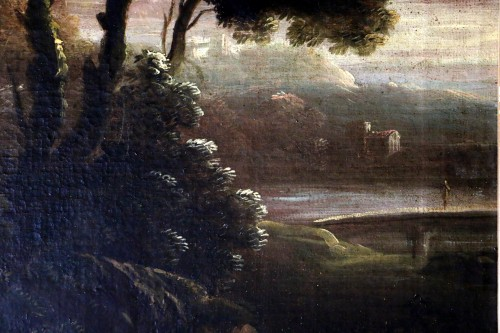 18th century - Italian school of the 18th century - Capriccio in a night landscape