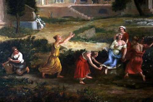17th century French school - The death of Eurydice attributed to Allegrain -
