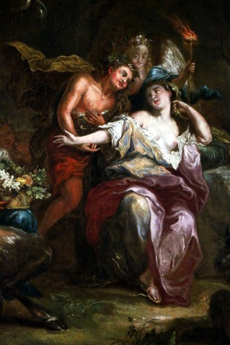 Bacchus and Ariane on the island of Naxos -attributed to Charles Antoine Coypel's Studio - Louis XIV