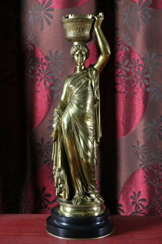 Sculpture  - Louis Valentin Elias ROBERT (1821-1874) - Pair of  bronzes on marble base