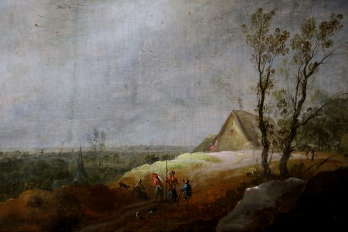 Animated landscape - Dutch School of the 17th century - Paintings & Drawings Style Louis XIII
