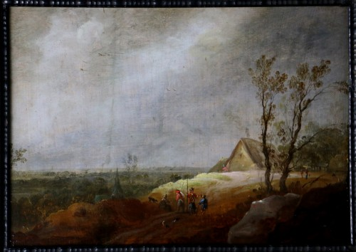 Paintings & Drawings  - Animated landscape - Dutch School of the 17th century