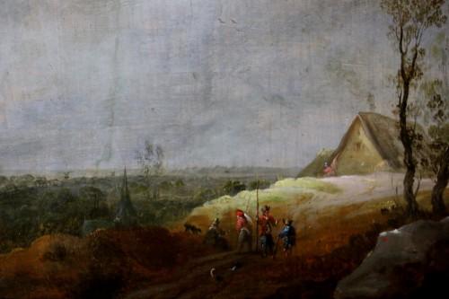 Animated landscape - Dutch School of the 17th century -