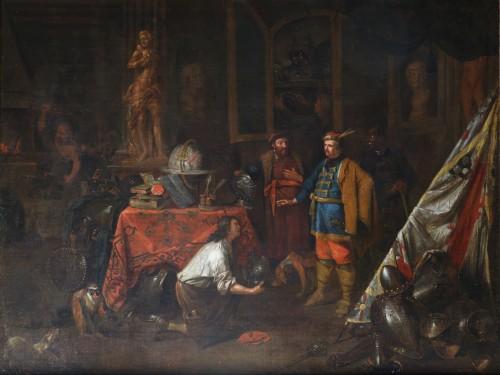 Paintings & Drawings  - Flemish School circa 1700 - Attributed van den Bossche (Antwerpen, 1681-1715)