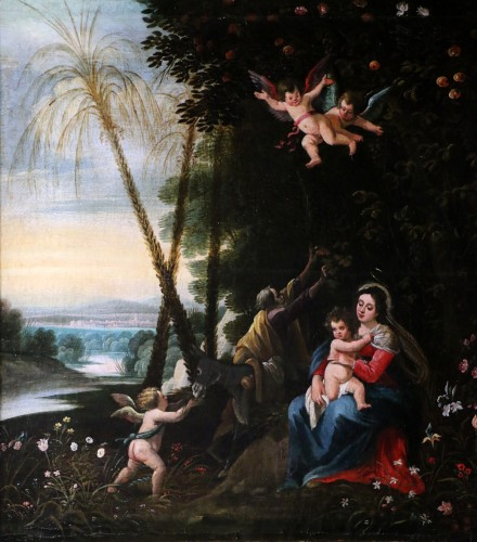 Italo-Flemish school around 1700 - The rest of the Holy Family