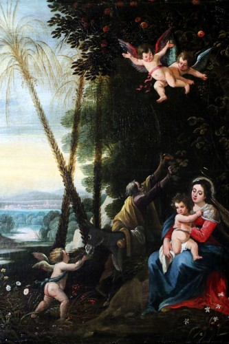 Italo-Flemish school around 1700 - The rest of the Holy Family -