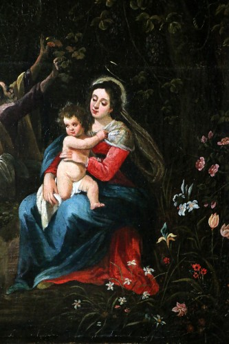 17th century - Italo-Flemish school around 1700 - The rest of the Holy Family