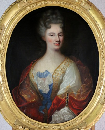 Provencal school of the 17th century circa 1680 - Lady of quality - Paintings & Drawings Style Louis XIV