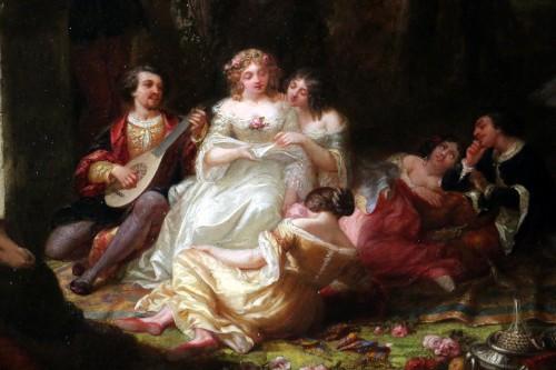 Louis Gabriel Bourbon-Leblanc (1813-1902)  - Romantic scene -