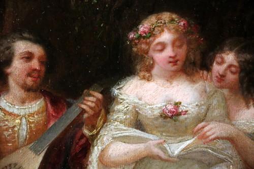 Napoléon III - Louis Gabriel Bourbon-Leblanc (1813-1902)  - Romantic scene
