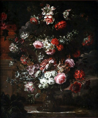 Garland of flowers - attributed to Peter Casteels I says the ancient-17th century