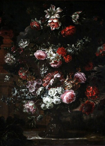 Paintings & Drawings  - Garland of flowers - attributed to Peter Casteels I says the ancient-17th century