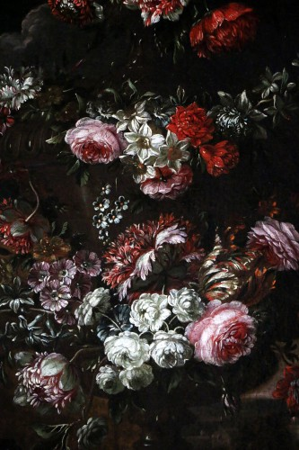 Garland of flowers - attributed to Peter Casteels I says the ancient-17th century -