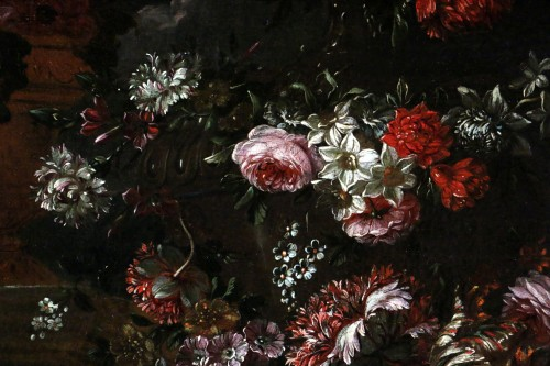 Garland of flowers - attributed to Peter Casteels I says the ancient-17th century - Louis XIV