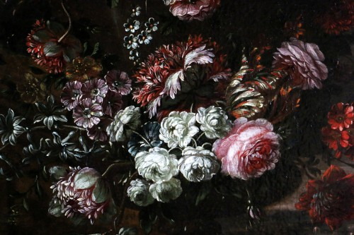 Louis XIV - Garland of flowers - attributed to Peter Casteels I says the ancient-17th century