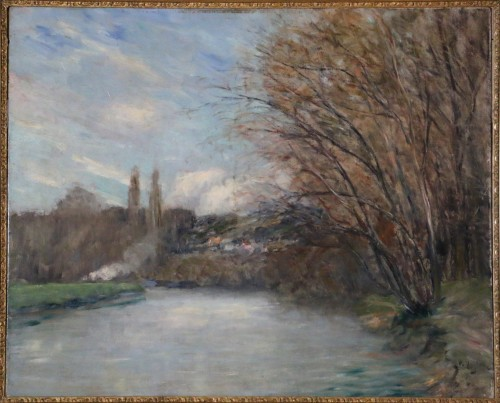 Paul Vogler (1852-1904) - Landscape of the Oise Valley - Paintings & Drawings Style