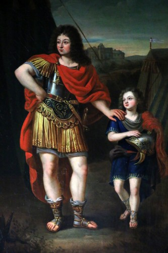 Paintings & Drawings  - Portrait of Philippe d'Orléans - French School of the late 17th Pierre Mignard and workshop (1612-1995)