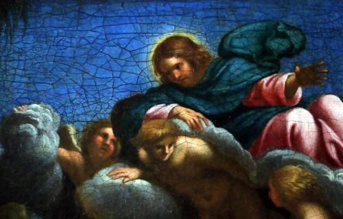 Antiquités - The temptation of St. Anthony - School Annibale Carracci (1560-1609)