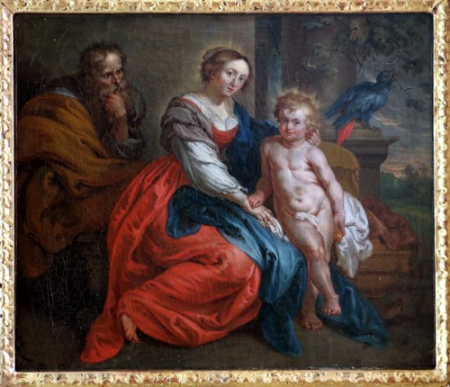 18th century French School - Holy Family after the work of Rubens - Paintings & Drawings Style Louis XV