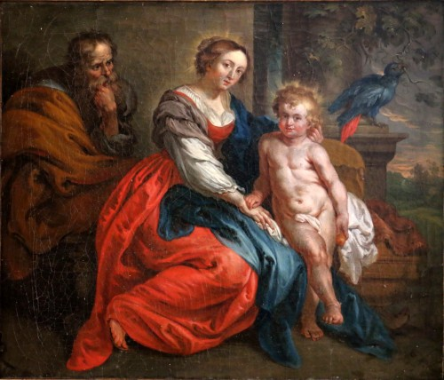 Paintings & Drawings  -  18th century French School - Holy Family after the work of Rubens