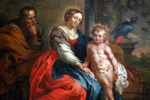 18th century French School - Holy Family after the work of Rubens -