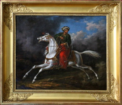 Charles Bellier- (born in 1796 in Paris) - signed. Ottoman rider