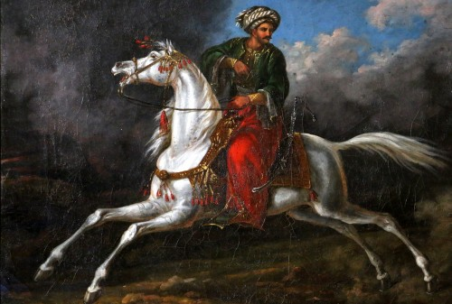 Charles Bellier (born in 1796 in Paris) - signed. Ottoman rider  - Paintings & Drawings Style Restauration - Charles X