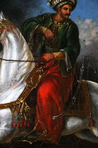 Charles Bellier (born in 1796 in Paris) - signed. Ottoman rider  -