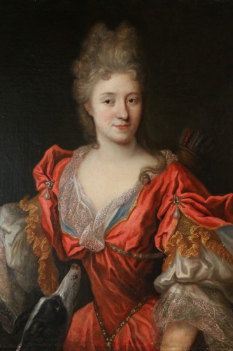 Lady in Diane chasseresse - François de Troy's workshop (1645-1730) - Paintings & Drawings Style Louis XIV