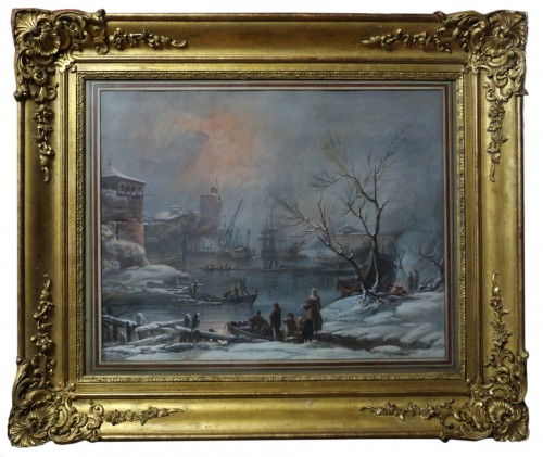 Snow landscape - French School of the 18th century
