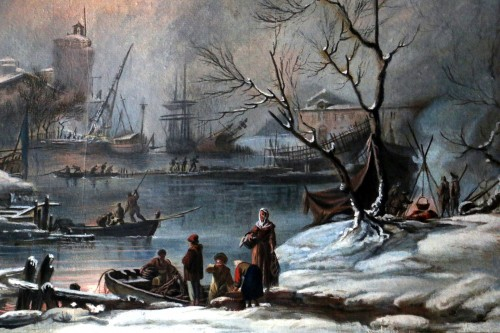 Snow landscape - French School of the 18th century -
