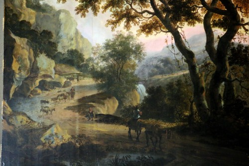 Paintings & Drawings  - Landscape of the Roman countryside - Dutch School of the 17th century