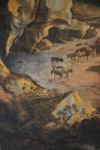 Louis XIV - Landscape of the Roman countryside - Dutch School of the 17th century
