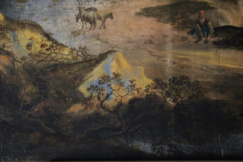 Antiquités - Landscape of the Roman countryside - Dutch School of the 17th century
